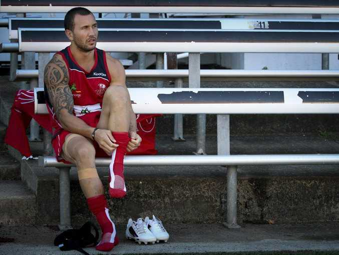 Quade Cooper preparing to train with the Queensland Reds.