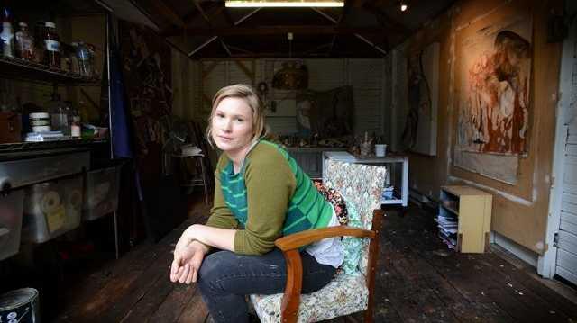 Brigid Ryan in her bangalow studio