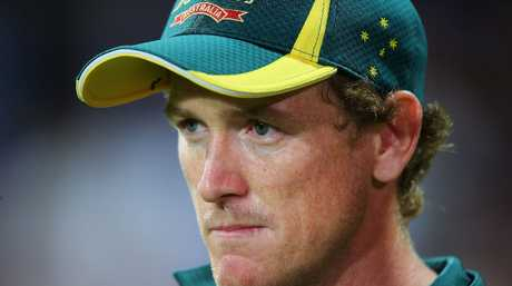 George Bailey of Australia speaks with the media after play was abandoned due to rain following game four of the Commonwealth Bank ODI series between Australia and Sri Lanka at Sydney Cricket Ground on January 20, 2013 in Sydney, Australia.