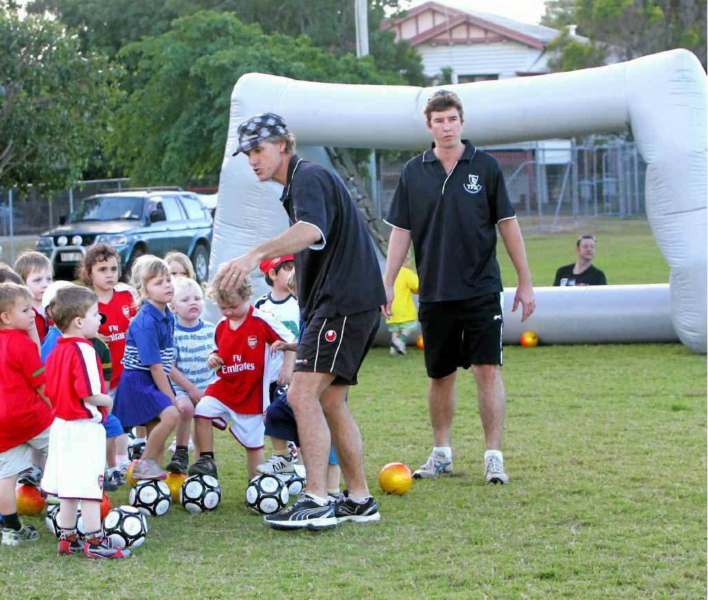 KICK START: Blair Grice is running a six-week junior soccer program in Middlemount.