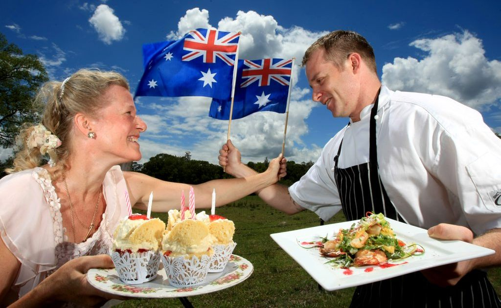 Phoenicia Altaire and Chef Leigh Robertson strongly disagree on which dish is best for Australia Day at Flutterbies in Tyalgum.