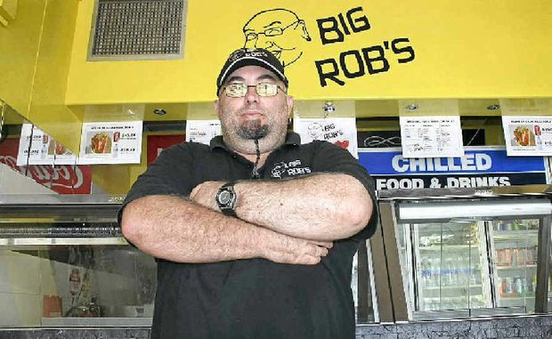 STANDING FIRM: Big Rob in his Lismore shop.