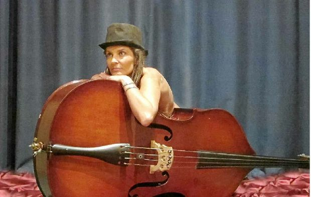 BASIC INSTINCT: Jodie Digney is as one with the double bass.