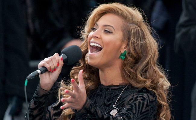 Beyonce performing in Washington, DC.