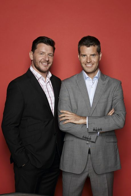 My Kitchen Rules hosts Manu Feildel, left, and Pete Evans.
