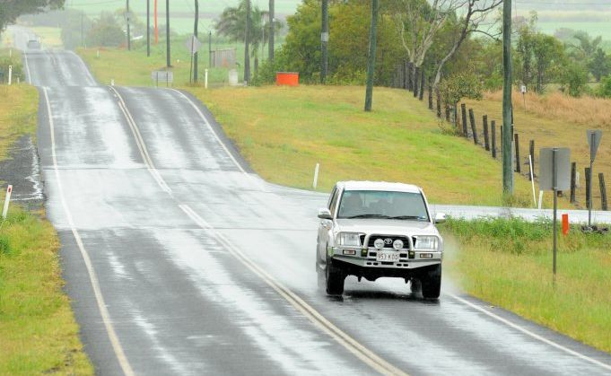 WELCOME RAIN: Expect wet weather on Bundaberg roads over the next few days.