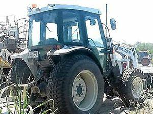 Where do you hide a tractor?