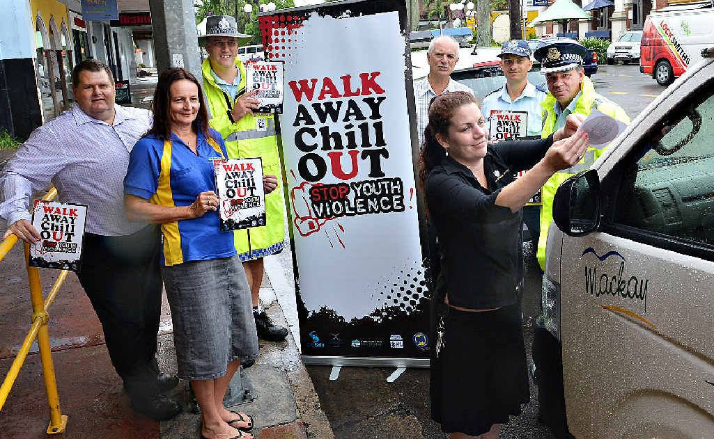 Mackay Taxis' Gary Dutton and Angela Lock, Sgt Nigel Dalton, Councillor Dave Perkins, Snr Sgt Craig Sanderson, Inspector Peter Flanders and Mackay Grand Suites' Shellie Zammit.