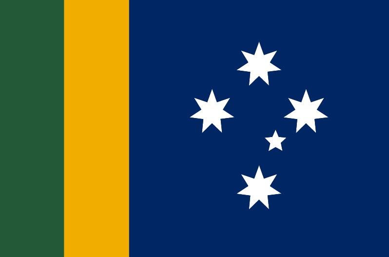 Ausflag's new Australian 'sporting flag'.
