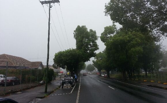 Grey and wet conditions blanket Toowoomba.