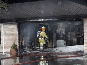Police guarding home while fire investigations continue