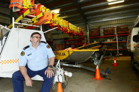 Stuart Ferguson local SES controller pictured in the Lismore SES headquarters behind him the storm and emergency equipment. Photo Jacklyn Wagner / The Northern Star
