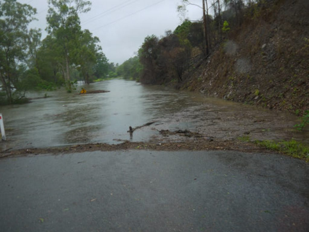 Pikes Crossing-Awoonga Rd has been impacted by flooding.