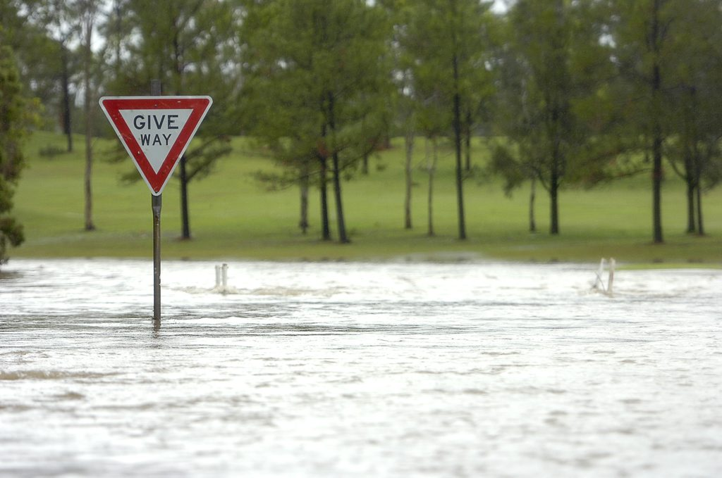 Calliope golf course was flooded due to the severe weather in the Gladstone region.
