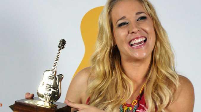 Catherine Britt wins her third Golden Guitar.