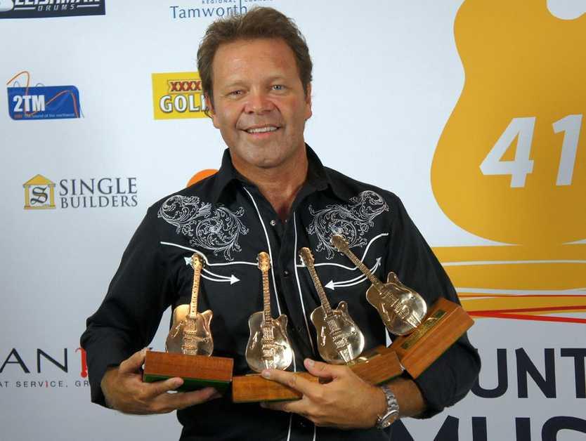 Troy Cassar-Daley's 2013 awards haul.