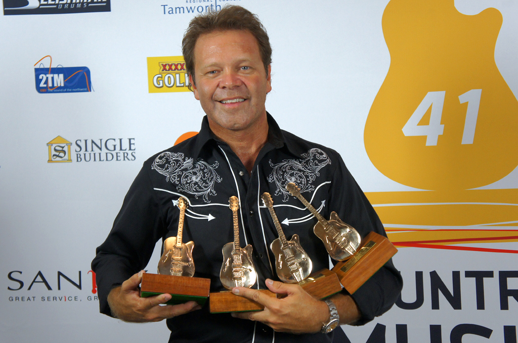Troy Cassar-Daley wins four Golden Guitars.