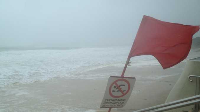 Queensland beaches are facing erosion over the weekend.