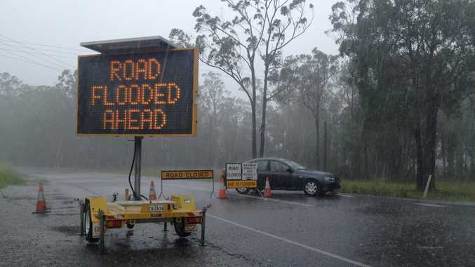 Wild weather elm st road from cooroy to Pomona closed
