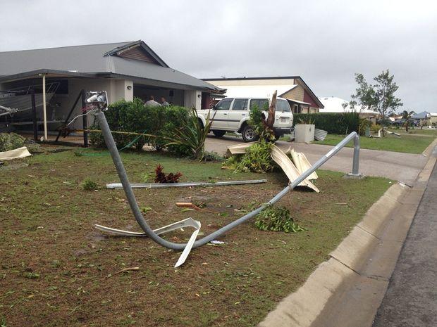 The mini-tornado that hit Burrum Heads left a trail of destruction.