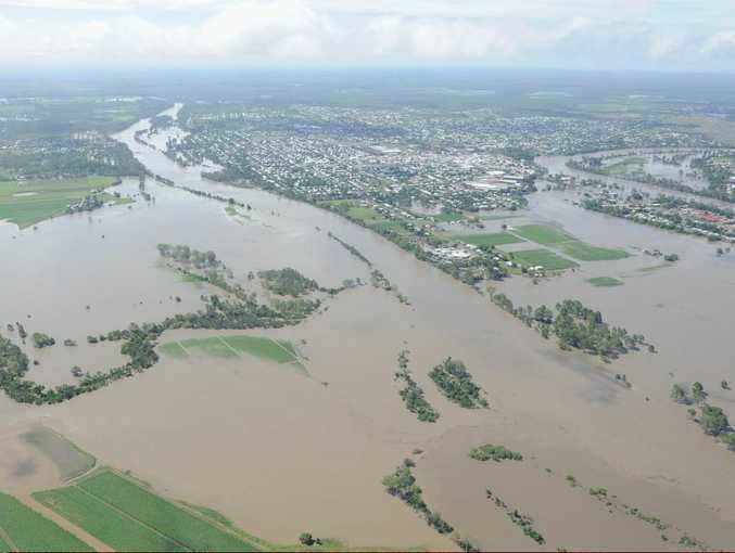 The AGL Action Rescue Helicopter is searching for a pregnant woman believed to be stuck in floodwaters west of Maryborough.