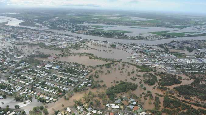 Flooding over Bundaberg earlier this year.