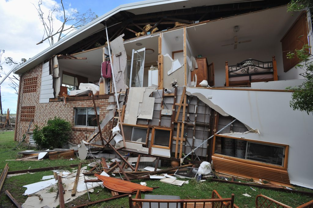 Burrum Heads homes were severely damaged in a tornado that hit two months ago. Ergon Energy will now do final repairs on the damaged powerlines in the town.