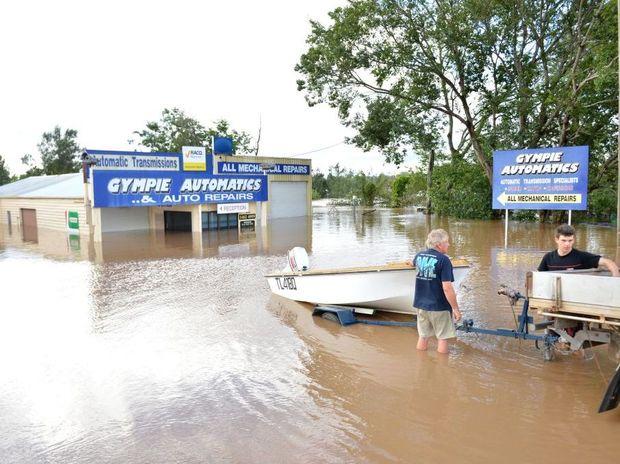 Flooding around Gympie, Monday January 28, 2013.