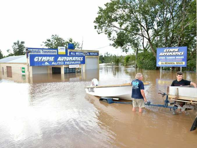 Flooding around Gympie, Monday January 28, 2013.