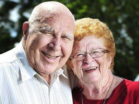 DIAMOND ANNIVERSARY: Raceview couple Arthur and Carmel Bracey celebrate their 60th wedding anniversary.