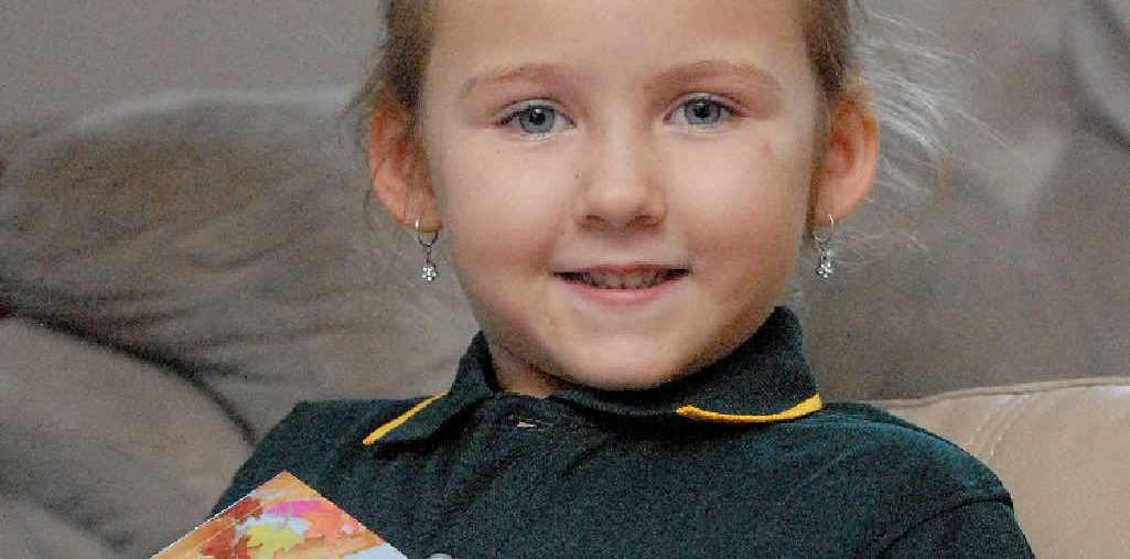 Prep student Charlotte Anderson can't wait to start school at St Joseph's Catholic Primary School.