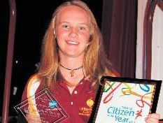 As well as excelling in the sporting arena, the rising star also plays an important role as a community representative, earning her the title of the 2013 Junior Citizen of the Year.
