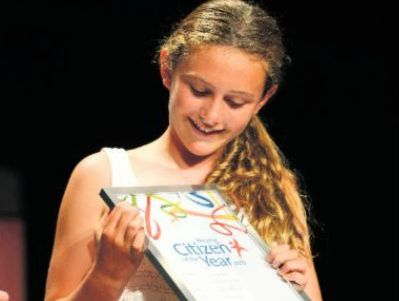 Clarence Valley's Young Citizen of the Year, Bronte Beresford.