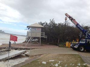 Mooloolaba's lifeguard tower rises high yet again
