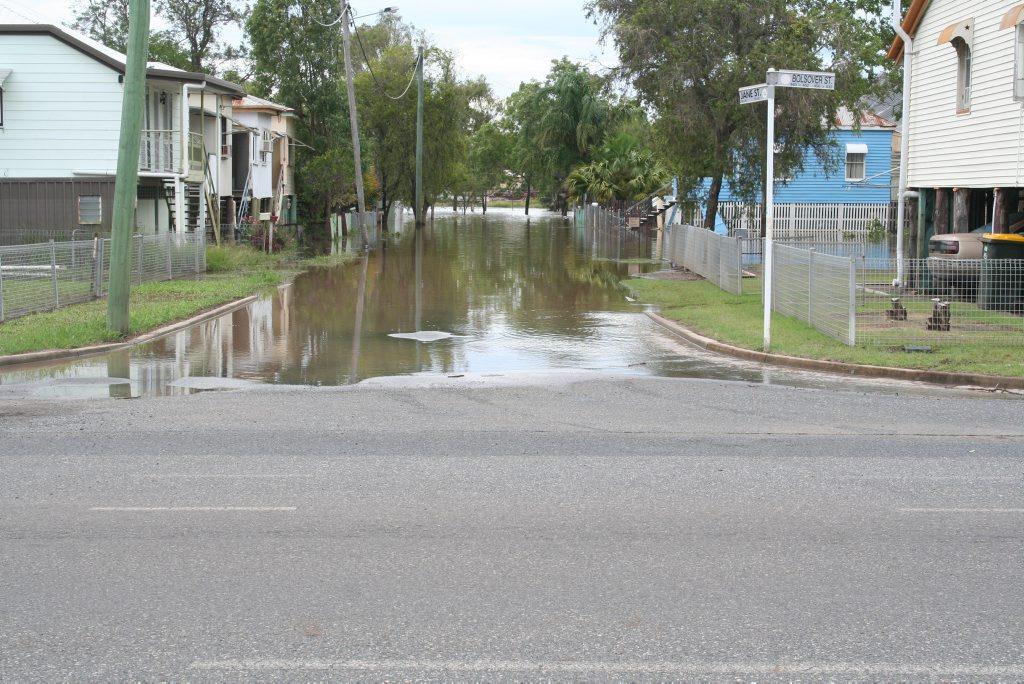 Rain aftermath in Rockhampton from January last year