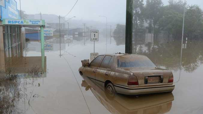 Gympie looked like a scene from an apocalyptic movie early Tuesday morning as the flood receded.