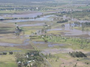 Lockyer Valley flood affected areas from above.