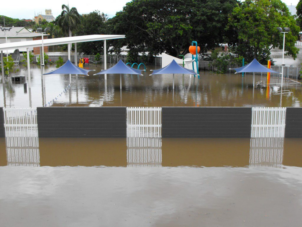The Maryborough Aquatic Centre, which only reopened on December 8 after a $6.5 million renovation, was underwater during the floods.