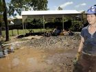 Laidley residents clean up after flood, teacher Barbara Buchanan at the Laidley kindergarten. . Photo: Bev Lacey / The Chronicle