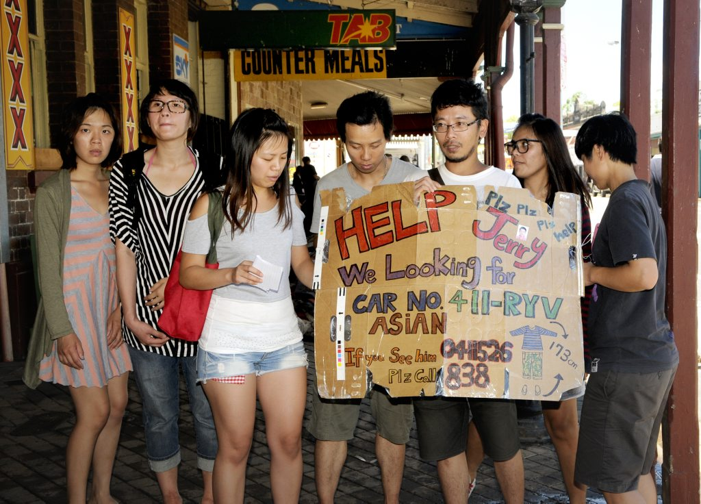Friends of Jerry Yukun spent yesterday scouring the streets of Laidley looking for the missing man.