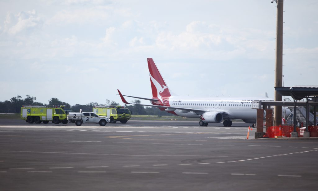 A QANTAS flight from Brisbane to Townsville was forced to make an emergency landing in Rockhampton this afternoon.