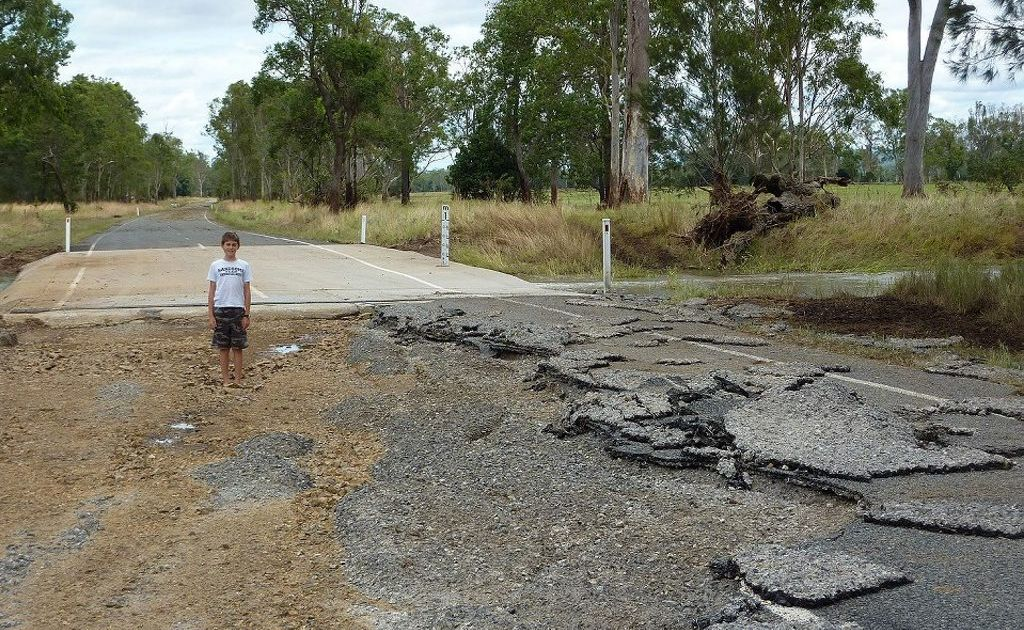 This is just before a causeway about 3 kms north of Nagoorin. Photo Contributed by Tracey Byrne
