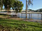 The Fitzroy River at 7am this morning as viewed from banks opposite The Bulletin office at 162-164 Quay Street.