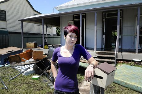 Cherise Ellis does not know what her future holds after her Laidley rental home was inundated.