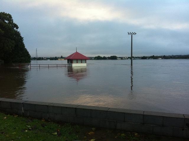 The Grafton Rowing Club this morning