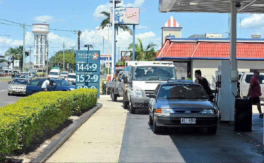 Bundaberg residents scramble to buy fuel as all the major routes into Bundaberg are cut off by severe flooding.