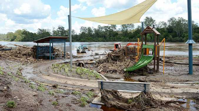 Colleges Crossing laid to waste by raging Brisbane River