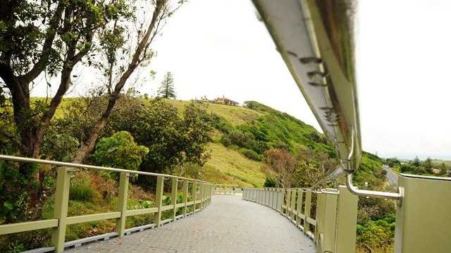 A new section of the Ballina Shire's shared coastal pathway, near Pat Morton Lookout at Lennox Head. Photo: Doug Eaton.