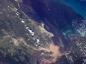 Astronaut tweets photo of Fraser Coast floods from space