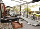 Patrons sleep in bar after hostel roof ripped off